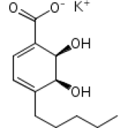 (2R,3S)-1-карбокси-4-пентил-2,3-дигидроксициклогекса-4,6-диен калия соль, 85%, техн., Acros Organics, 1г