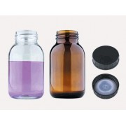 Бутыль - с винтовой крышкой - с широким горлышком - медицинское стекло - желтая - 100 мл - горлышко GL 40 (10 шт. / уп.), Isolab